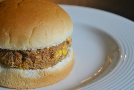 pinto bean and corn burgers