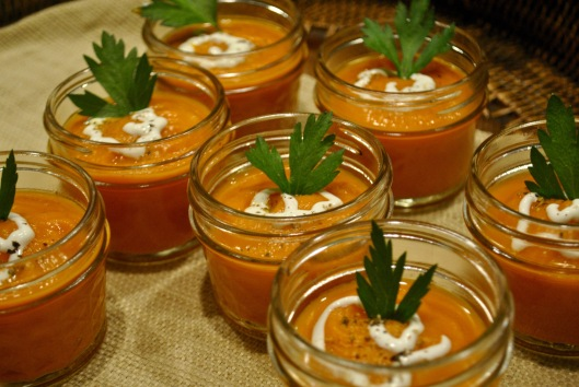 roasted spiced carrot tomato soup