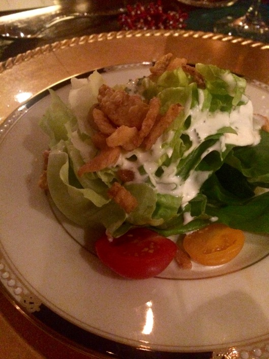 the beautiful Cashew Buttermilk Salad designed by Chef Micah Spears-Blackmon