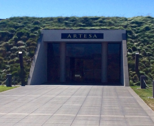 the interesting entrance to the Artesa tasting room