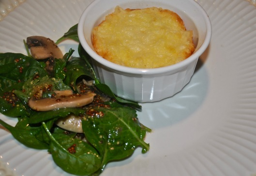 corn and cheddar souffle