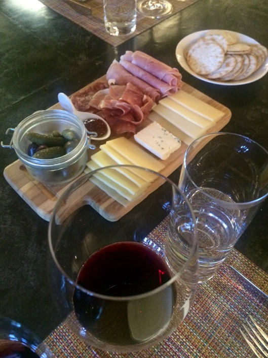 the delicious cheese plate paired perfectly with the incredible wines at Jamieson Ranch