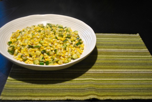 fresh corn and zucchini saute