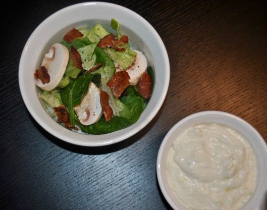 house salad with cottage cheese dressing