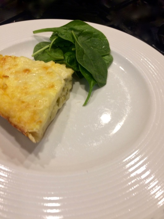 green chile and cheese pie