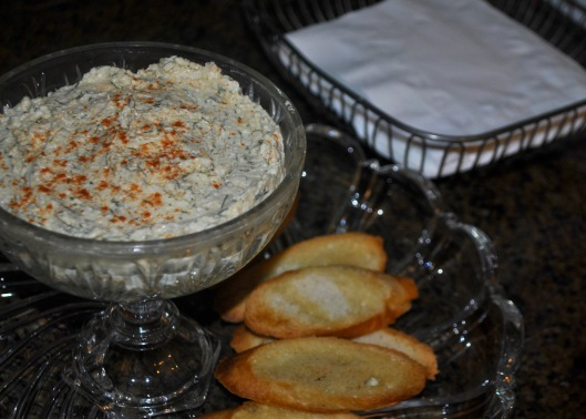 whipped hearts of palm and feta dip
