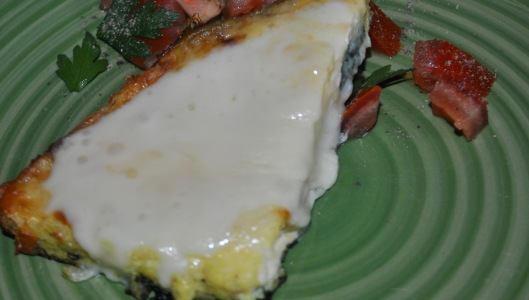 white pizza fritatta