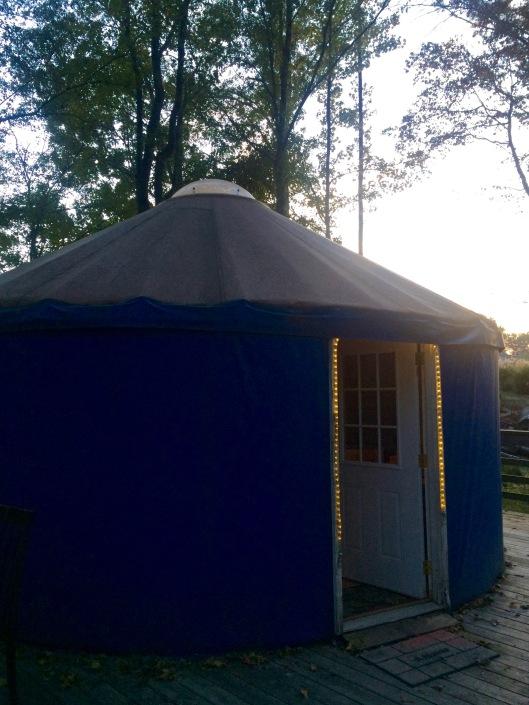 our yurt at Lake Catherine