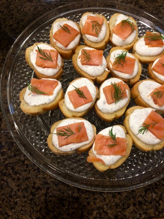 smoked salmon with caraway cognac cream